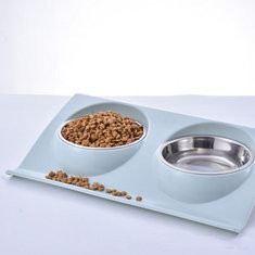 Stainless Steel Dog Bowl Double Feeding Dish-US$10.05