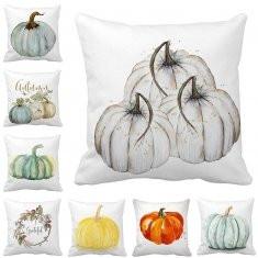 Water Color Punpkin Printed Cotton Linen Cushion Cover -RM5.59