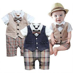 Cotton Boy Gentleman Rompers Suit For 6-24M -US$22.99