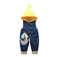Thick Cotton Baby Jumpsuit For 0-24M