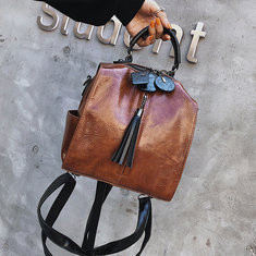 Women Vintage Faux Leather Shoulder Bag -RM156.64