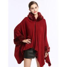Knit Shawl Cloak Coat-RM 250.44