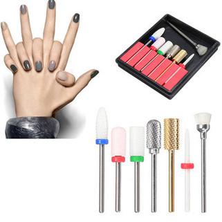 7Pcs/ Set Ceramic Nail Art Drill Bits -US$57.99