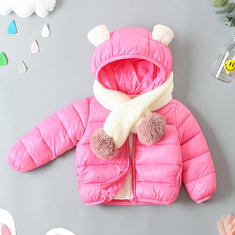 Cute Ears Downs Parkas For 1Y-9Y-US$29.99