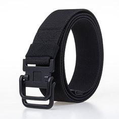 Men Plate Buckle Canvas Belt-RM52.11