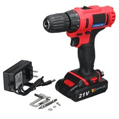 21V Cordless Drill Rechargeable Battery Electric Drill-US$78.15