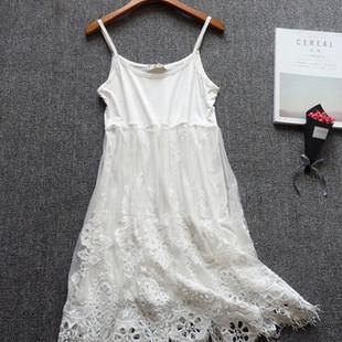 Lace Patchwork Spaghetti Strap Dresses -US$32.33