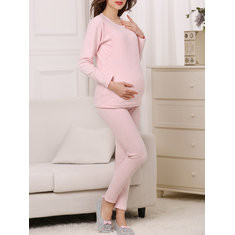 Soft Cotton Maternity Pajama Set-RM150.02