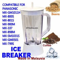 BLENDER JUG BIG 1080 ( ICE BREAKER ) FOR PANASONIC MX-GM1011H, MX-800S, MX-801S, MX-900M, MX-337, MX-898M, MX-SM1031S, MX-GM0501, MX-799S RM25.00