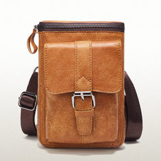 Men Genuine Leather Vintage Waist Bag Crossbody Bag-US$38.53