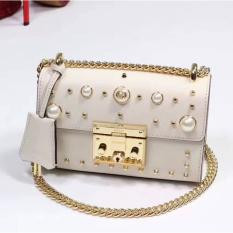 Gucci Padlock Studded Leather Shoulder Bag White RM1,088.00