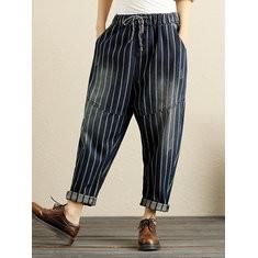 Denim Elastic Waist Pants -RM154.41