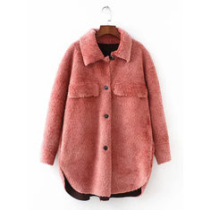 Casual Lapel Fleece Coat-RM 213.43