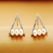 Sweet Ear Stud Earrings Triangular Diamond Imitation Pearls Earrings-RM29.99