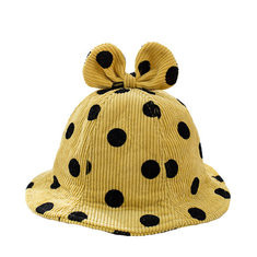 Dot Girls Bucket Cap For 2-8 Years-US$13.00