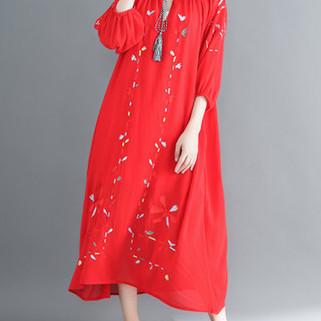 RM174.23 -Ethnic Print Crew Neck Dress