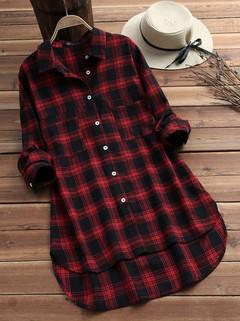 Vintage Plaid Cotton Shirts-RM68.43