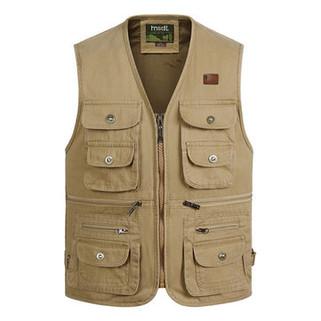 Cotton Multi Pockets Vest-US$23.99