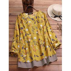 Floral Print Long Sleeve Shirts-RM85.90