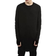 Comfy Mid Length Solid Color T Shirt-US$13.89