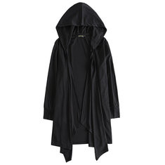 Mid Long Style Hooded Shawl Collar Cloak-US$29.99