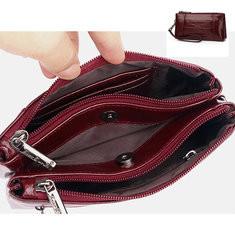 Men Genuine Leather Multi-function Wallet 5.5 Inch Phone Bag-US$17.70