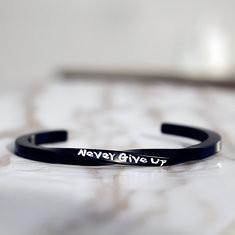 Never Give Up Spiral Bracelets & Bangles-US$11.47