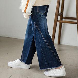 Girls Wide Leg Denim Pants Kids Flare Jeans For 4Y-15Y -US$28.69