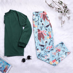 Christmas Cotton Knitting Family Matching Pajamas -US$22.79
