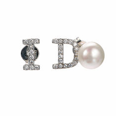 Sterling Silver Yes I Do Stud Earrings-US$23.75