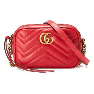 Gucci 448065 DRW1T 6433 GG Marmont Matelasse Mini Crossbody Bag, Red RM3,867.00