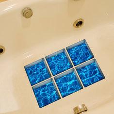 6pcs 13x13cm 3D Anti Slip Waterproof Bathtub Sticker-US$7.58