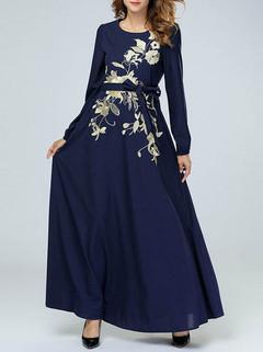 Muslim Long Sleeve Maxi Dress -US$56.00