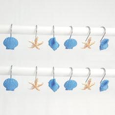 12 PCS Seashell Shower Curtain Hooks-US$11.62