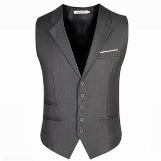 Slim Fit Pure Color Waistcoats-US$19.08