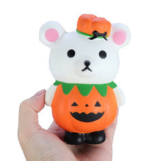 Halloween Pumpkin Bear Squishy-US$7.86