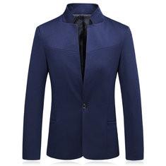 Patchwork Slim Fit Casual Cotton Jacket-RM165.99