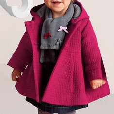 Cotton Comfy Girls Hooded Coat For 6-36M