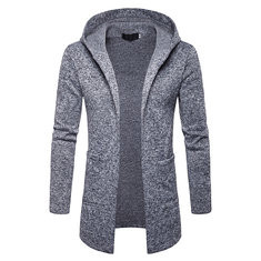 Mens Plus Size Mid Length Cardigan-US$28.24