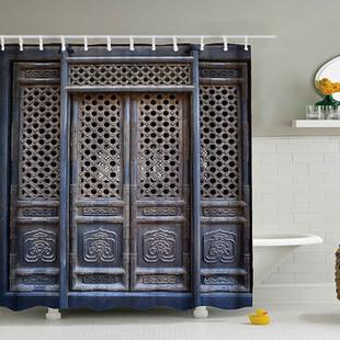 Vintage Old Door Bathroom Shower Curtain -US$21.90
