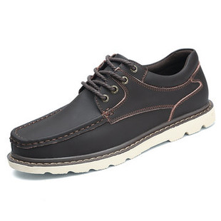 Men Pure Color Lace Up Leather Oxfords -US$54.71
