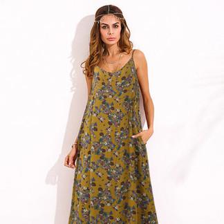 Floral Printed Maxi Dresses -US$17.59