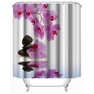 Flower Waterproof Polyester Shower Curtains -US$18.60