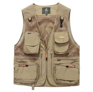 Loose Multi Pockets Vest-US$30.09