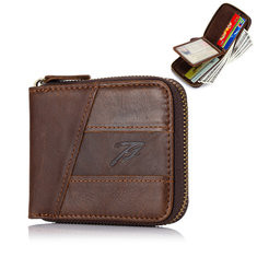 Bifold Genuine Leather 12 Card Slot Wallet For Men