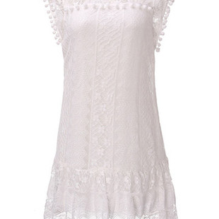 Sexy Lace Crochet Sleeveless Transparent W-US$8.86