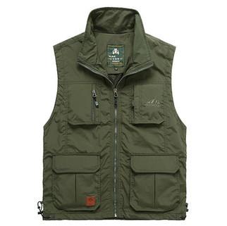 Loose Multi Pockets Vest-US$30.06