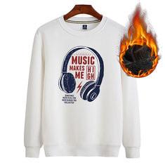 Printing Cotton O-neck Warm Sweatshirt-US$23.01