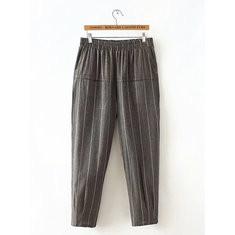 Stripe Pockets Harem Pants-RM145.83