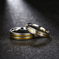 Classic Stainless Steel Couple Ring-US$6.92